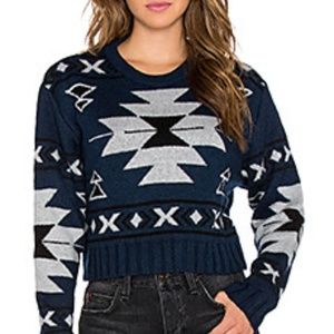Jen's Pirate Booty Aztec Crop Sweater in XS